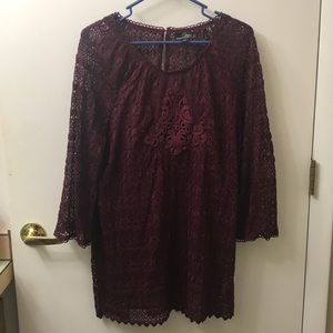 Lace Tunic w/ cami by Suzanne Betro NWOT!